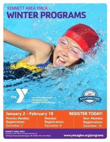 Kennett Area YMCA Winter Program Guides 2018
