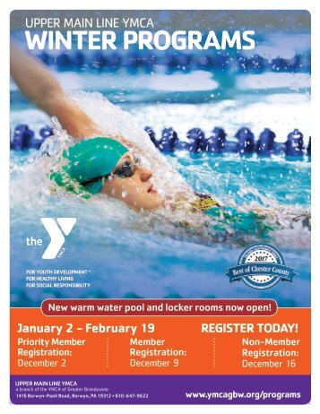 Upper Main Line YMCA Winter Programs 2018