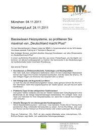 Basiswissen Heizsysteme Deutschland macht plus - Bayerischer ...