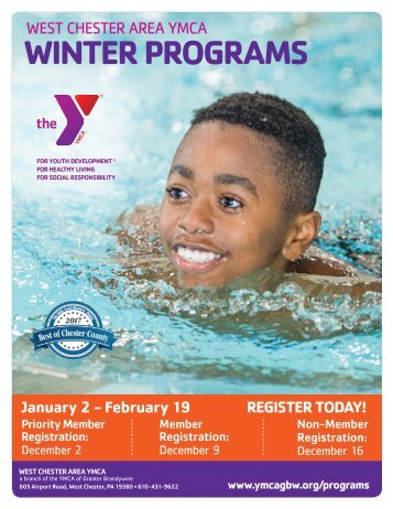 West Chester Area YMCA Winter Programs 2018