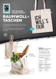 Werbemittel Baumwolltasche Fairtrade zertifiziert
