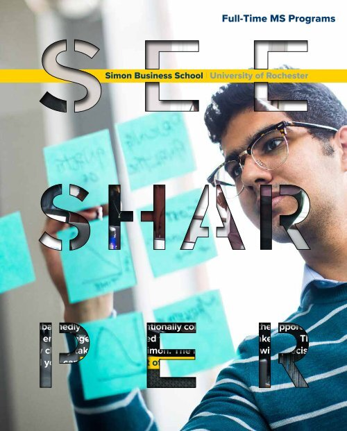 Simon Business School Full-Time MS Programs Viewbook