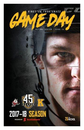 Kingston Frontenacs GameDay December 8, 2017