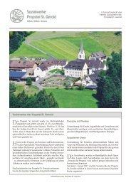 Informationsbroschüre Verein Sozialwerke der Propstei St. Gerold