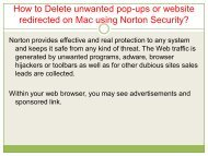 How to Delete unwanted pop-ups or website redirected on Mac using Norton Security