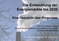 Energieprognose IER / RWI / ZEW - VEH