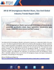AR & VR Smartglasses Market Share, Size And Global Industry Trends Report 2022