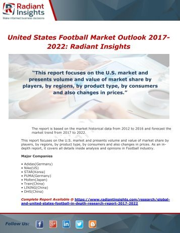 United States Football Market Outlook 2017-2022