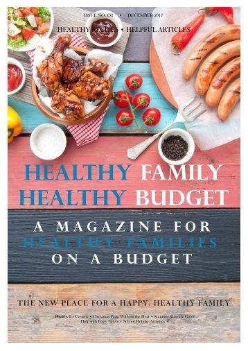 Healthy Family Healthy Budget E-Magazine - Summer Edition