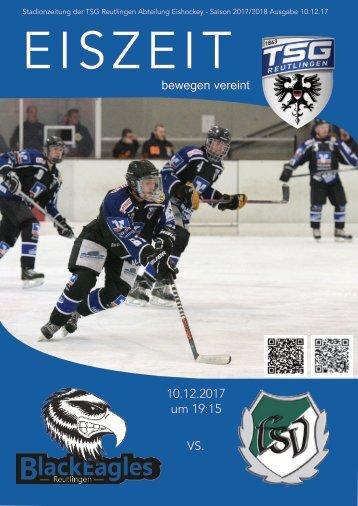 Eiszeit Stadionzeitung Black Eagles vs Heritage Schwenningen 10122017
