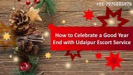 How to Celebrate A Good Year End With Udaipur Escort Service