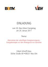 Neu-Ulmer Energietag 2011 - VEH