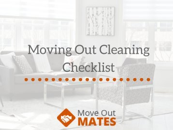 Moving Out Cleaning Checklist from MoveOutMates