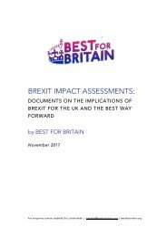 Best for Britain Brexit-Reports-6.12.17-FINAL