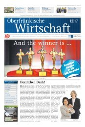 Oberfränkische Wirtschaft Ausgabe 12.2017