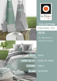 Catalogue Les Ateliers du Linge Printemps-Éte 2018