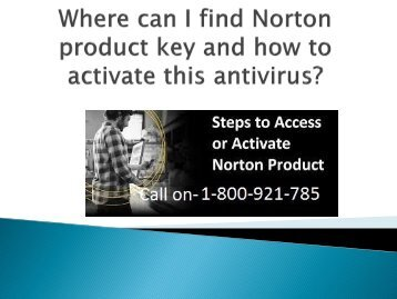 Where can I find Norton product key and how to activate this antivirus