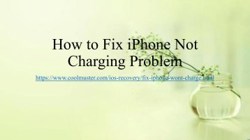 How to Fix iPhone Not Charging Issue