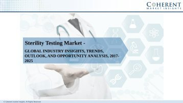 Sterility Testing Market - Global Industry Insights, Analysis and Forecast 2017-2024