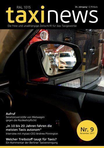 RAL 1015 taxi news Heft 9-2017