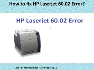 1(800)576-9647 How to fix HP Laserjet 60.02 Error