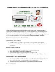 Different Ways to Troubleshoot Scan & Copy Functions of Dell Printer