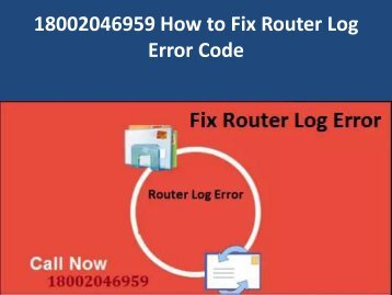 18002046959 Fix Router Log Error Code