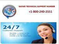 Safari Technical Support Number 1866-218-2512
