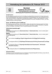 Merkblatt - Berufsbildende Schulen I Leer