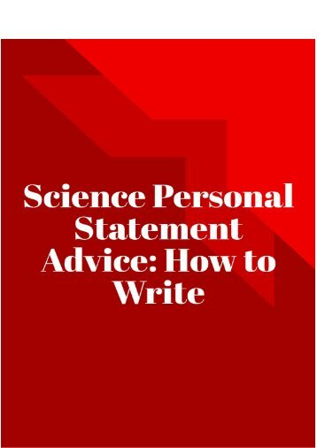 Science Personal Statement Advice: How to Write