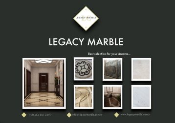 Legacy Marble Product Catalog