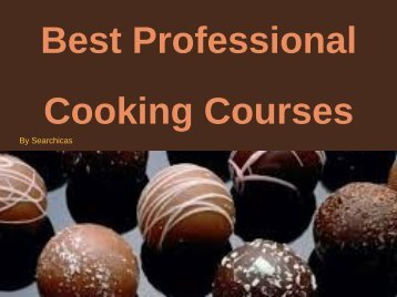 Best Professional Cooking Courses