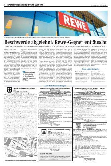Beschwerde abgelehnt: Rewe-Gegner enttäuscht