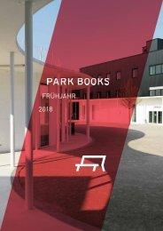 Park Books Vorschau Frühjahr 2018