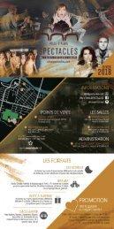 Ville d'Alma SPECTACLES - Promo HIVER 2018