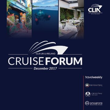 CLIA Cruise Forum programme DIGITAL
