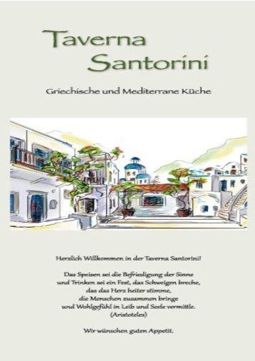 Speisekarte Taverna Santorini