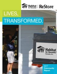 Habitat for Humanity Sarasota | 2017 Community Report