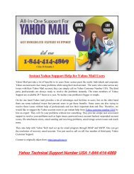 1877-503-0107 Instant Yahoo Support Help for Yahoo Mail Users