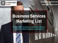 Business Services Direct Marketing List   Business Database   Email List