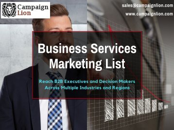 Business Services Direct Marketing List | Business Database | Email List