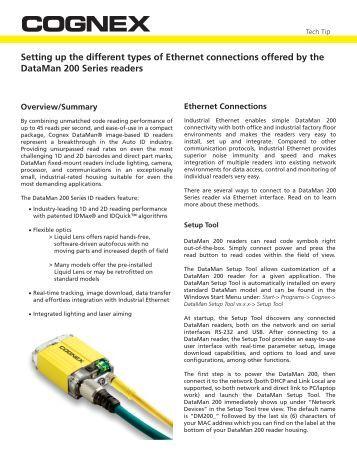 Cognex dataman 7500 manual