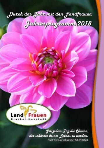 Landfrauen Brackel-Hanstedt  Programm 2018