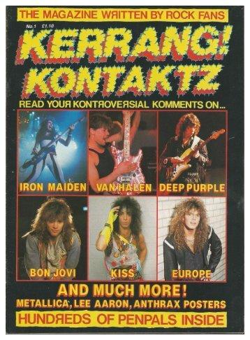 kerrang kontaktz 1987 mag