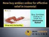 Now buy ambien online for effective relief in insomnia!