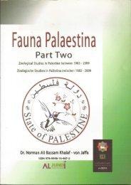 Fauna Palaestina Part  2 Book By Dr Norman Ali Khalaf von Jaffa 2012
