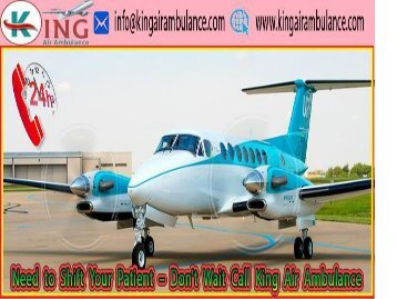 Emergency Medical Air and Train Ambulance Services in Srinagar-King Air Ambulance