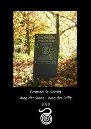 Kalender 2018_Weg der Sinne & der Stille_Propstei St. Gerold