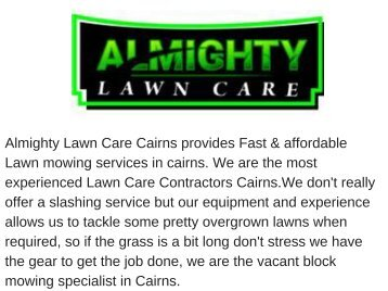 Lawn Care Cairns