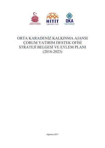 orum YDO İl Strateji Belgesi ve Eylem Planı